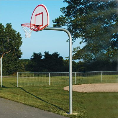 Basketball Outdoor Gooseneck Back Stop