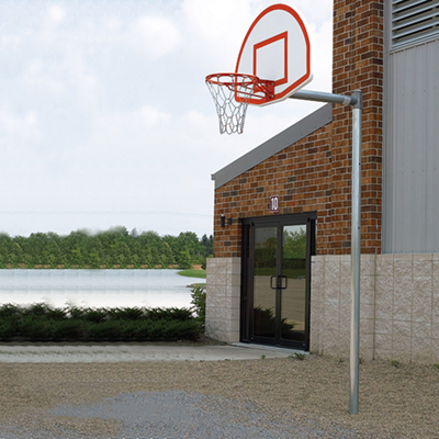 Basketball Outdoor Straight Back Stop