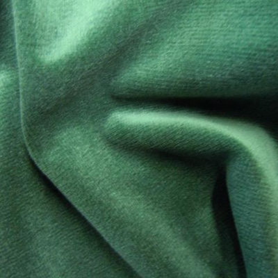 Cotton Velour Forest Green