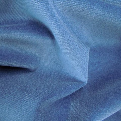 Cotton Velour Teal Blue