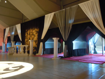 Event drapery custom configuration