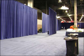 Event drapery custom trade show