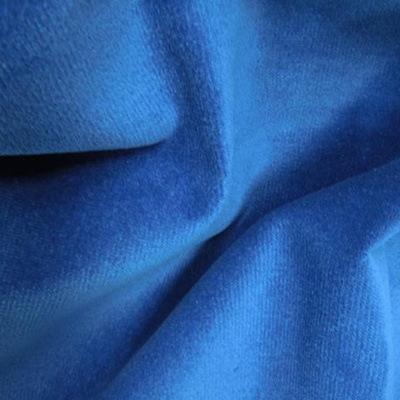 Polyester Velour Royal Blue