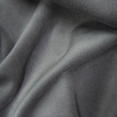 Polyester Velour Slate Grey