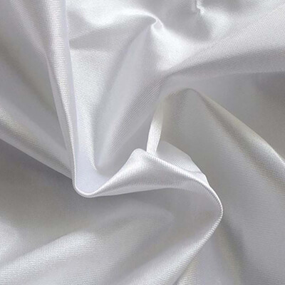 Poly Knit White Fabric