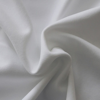 Performance Velour Arctic White Fabric