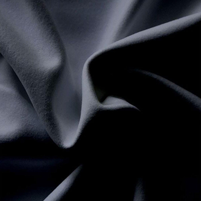 Performance Velour Black Fabric