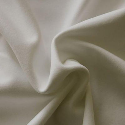 Performance Velour Pearlescent Ivory Fabric
