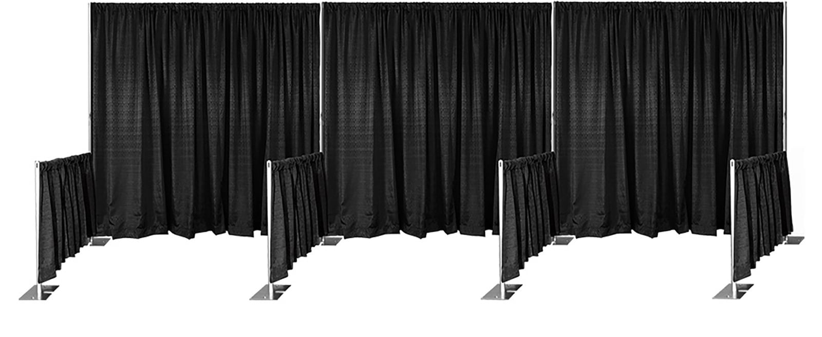 pipe using drape tours renting at rsvp portable drapes supplies tourshalldraping hall head waco and table