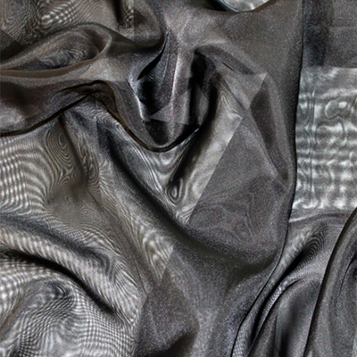 Sheer Drape Black Fabric
