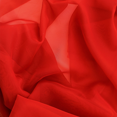 Sheer Drape Red Fabric