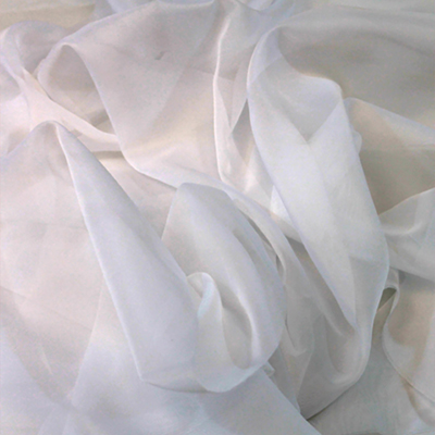 Sheer Drape White Fabric