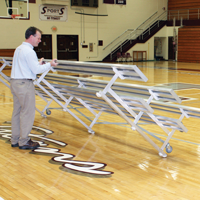 Tip-and-Roll Bleachers