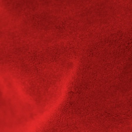 Crescent Polyester Velour Red