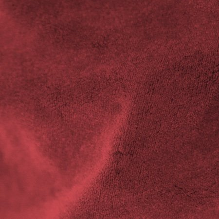 Crescent Polyester Velour Ruby