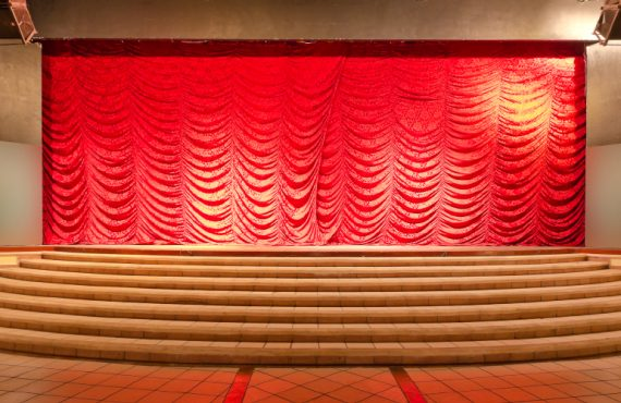 Stage Curtains Install